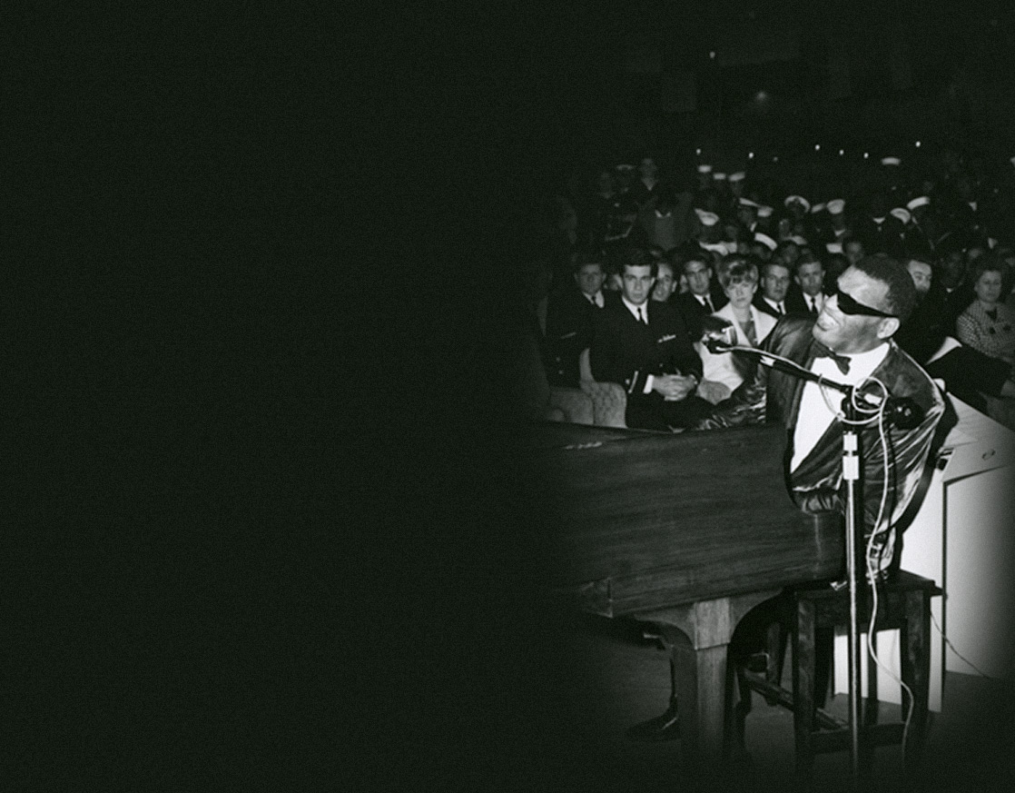 Ray Charles playing a concert